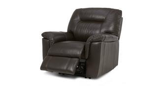 Cato Leder en lederlook Elektrische recliner fauteuil