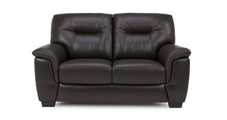 Cato Leather and Leather Look 2 Seater Sofa