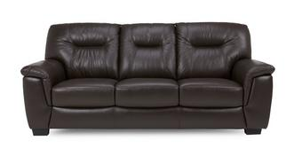Cato Leather and Leather Look 3 Seater Sofa