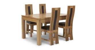 Cavendish Grote uitschuiftafel en 4 stoelen