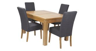 Cavendish Small Extending Table & Set of 4 Tunis Light Leg Chairs