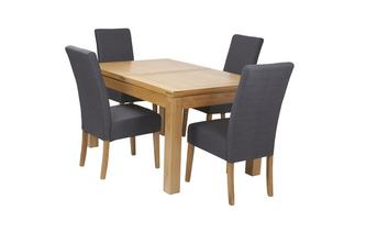 Large Extending Table & Set of 4 Tunis Light Leg Chairs