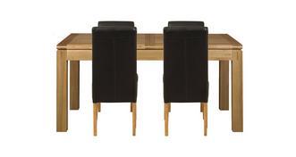 Cavendish Grote uitschuifbare eettafel & set van 4 Ariana Light Leg stoelen