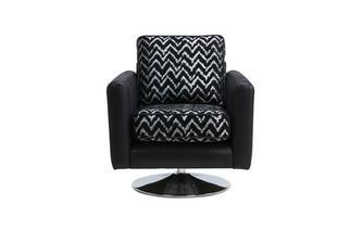 Pattern Swivel Chair Carrara