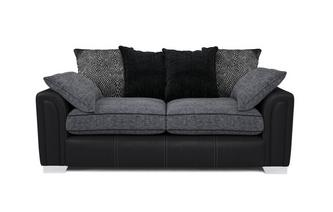 3 Seater Pillow Back Sofa Carrara
