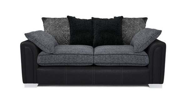 Cayanne 3 Seater Pillow Back Sofa