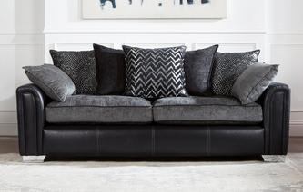 Cayanne 4 Seater Pillow Back Sofa Carrara