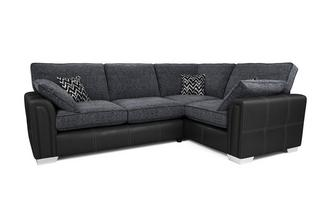 Left Hand Facing Formal Back 3 Seater Corner Sofa Carrara