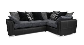 Cayanne Left Hand Facing Pillow Back 3 Seater Corner Sofa