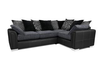 Left Hand Facing Pillow Back 3 Seater Corner Sofa Carrara