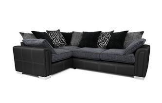 Right Hand Facing Pillow Back 3 Seater Corner Sofa Carrara