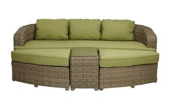 Cayon Sofa Set Large Sofa Set PU Rattan