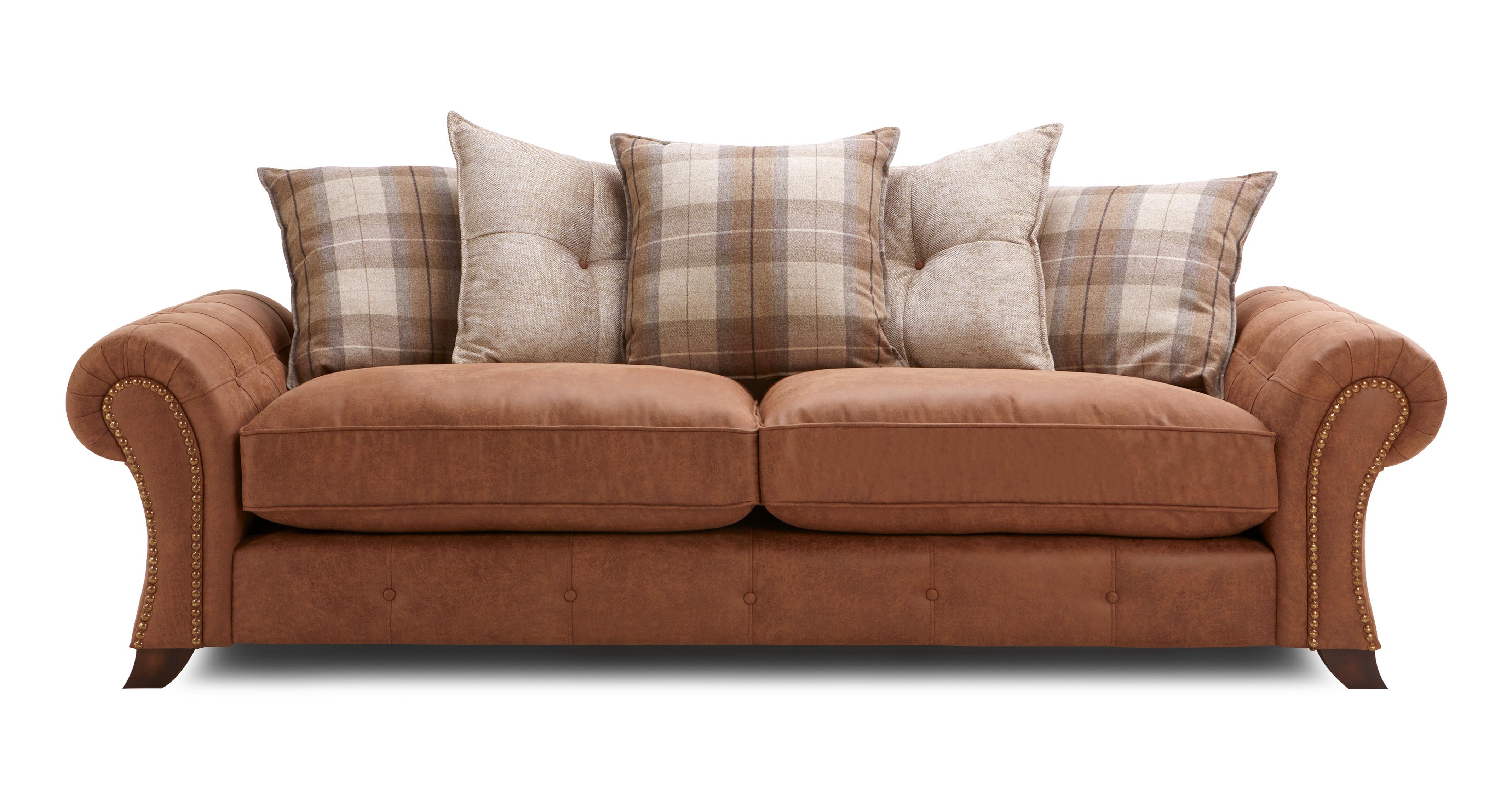 Delightful Cedar 4 Seater Pillow Back Sofa Oakland | DFS