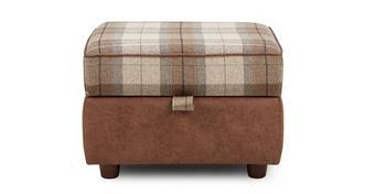 Cedar Check Top Storage Footstool