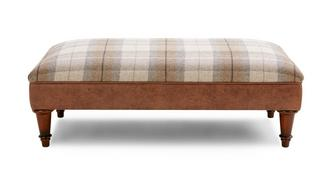 Cedar Check Top Large Footstool