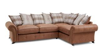 Cedar Left Hand Facing 3 Seater Pillow Back Corner Sofa