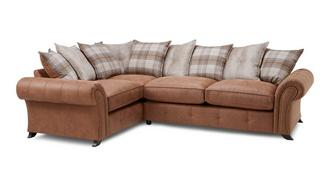 Cedar Right Hand Facing 3 Seater Pillow Back Corner Sofa