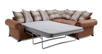 Cedar Left Hand Facing 3 Seater Pillow Back Corner Deluxe Sofa Bed