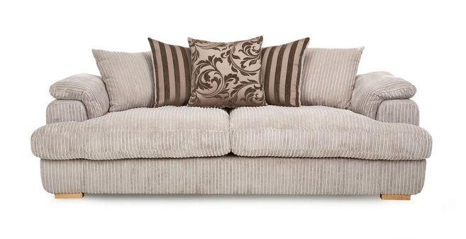 Celine: 4 Seater Pillow Back Sofa