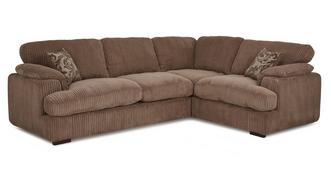 Celine Left Arm Facing 2 Seater Formal Back Corner Sofa