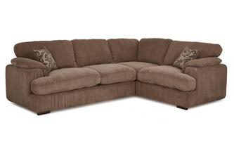Left Arm Facing 2 Seater Formal Back Corner Sofa
