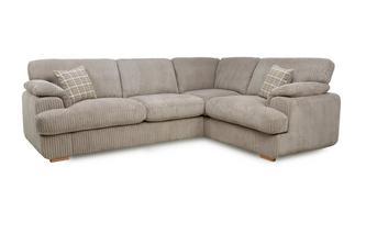 Left Arm Facing 2 Seater Formal Back Corner Sofa Celine Alternative