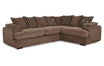 Left Arm Facing 2 Seater Pillow Back Corner Sofa Celine