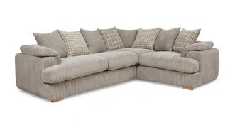 Celine Left Arm Facing 2 Seater Pillow Back Corner Sofa