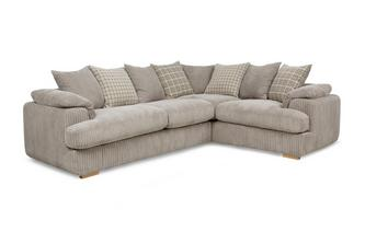 Left Arm Facing 2 Seater Pillow Back Corner Sofa