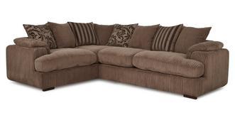 Celine Right Arm Facing 2 Seater Pillow Back Corner Sofa