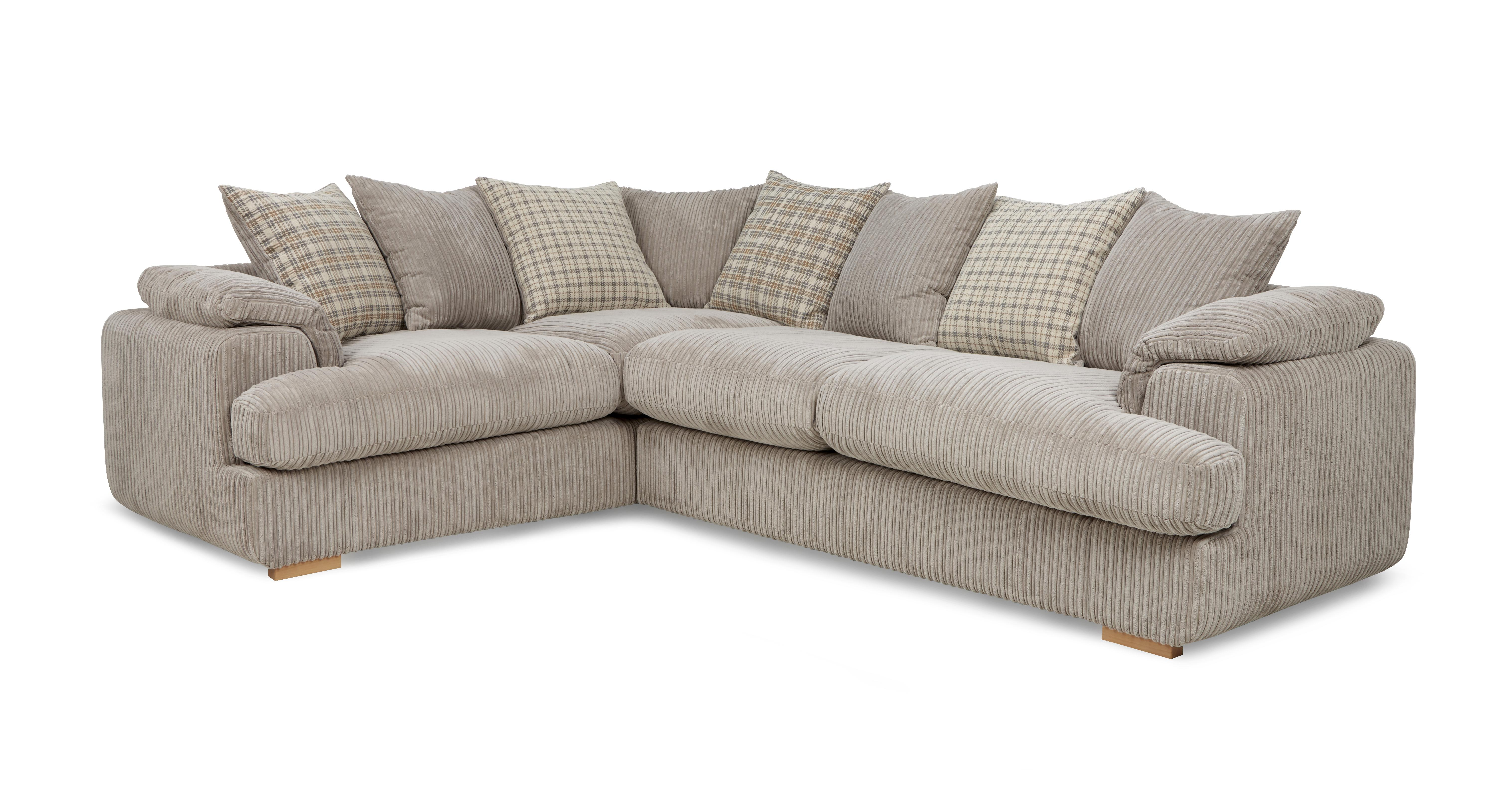 Celine Right Arm Facing 2 Seater Pillow Back Corner Sofa Celine Alternative  | DFS