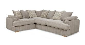 Celine Right Arm Facing 2 Seater Pillow Back Corner Sofa