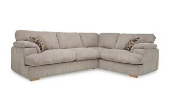 Left Arm Facing 2 Seater Formal Back Deluxe Corner Sofa Bed