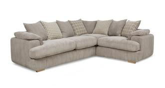 Celine Left Arm Facing 2 Seater Pillow Back Deluxe Corner Sofa Bed