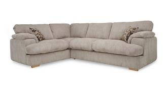 Celine Right Arm Facing 2 Seater Formal Back Deluxe Corner Sofa Bed