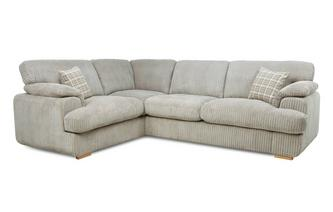 Right Arm Facing 2 Seater Formal Back Deluxe Corner Sofa Bed Celine Alternative