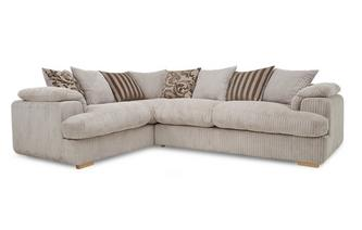 Right Arm Facing 2 Seater Pillow Back Deluxe Corner Sofa Bed Celine
