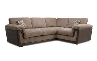 Left Hand Facing 2 Seater Formal Back Corner Sofa Inception
