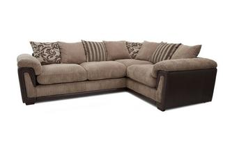 Left Hand Facing 2 Seater Pillow Back Corner Sofa Inception