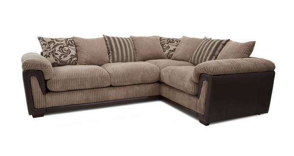 Chalice Left Hand Facing 2 Seater Pillow Back Corner Sofa