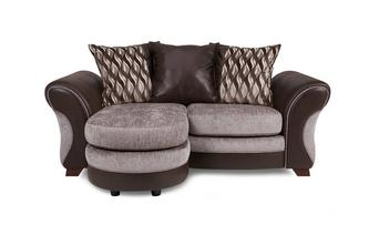 2 Seater Pillow Back Lounger