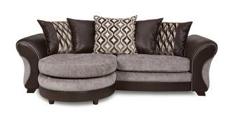Chance 4-zits Lounger losse rugkussens