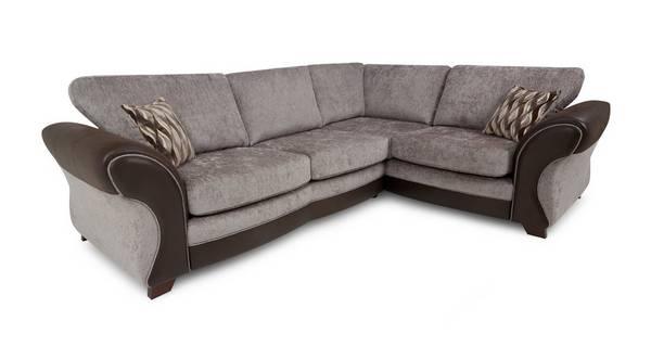 Chance Left Hand Facing 3 Seater Formal Back Corner Sofa