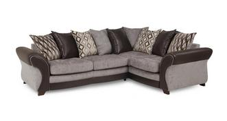 Chance Left Hand Facing 3 Seater Pillow Back Corner Sofa