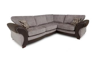Left Hand Facing 3 Seater Formal Back Deluxe Corner Sofa Bed Chance