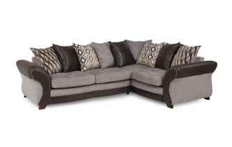 Left Hand Facing 3 Seater Pillow Back Deluxe Corner Sofa Bed Chance
