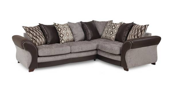 Chance Left Hand Facing 3 Seater Pillow Back Deluxe Corner Sofa Bed