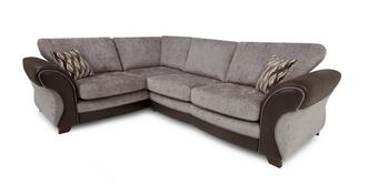 Chance Right Hand Facing 3 Seater Formal Back Deluxe Corner Sofa Bed