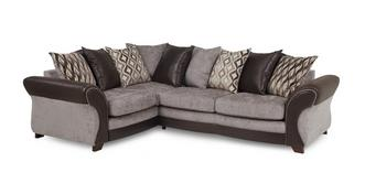 Chance Right Hand Facing 3 Seater Pillow Back Deluxe Corner Sofa Bed