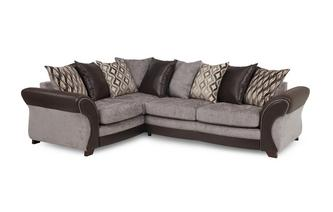 Right Hand Facing 3 Seater Pillow Back Deluxe Corner Sofa Bed Chance